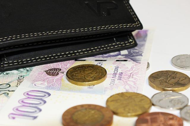 お財布と紙幣と硬貨