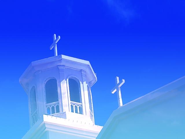 青空とチャペル