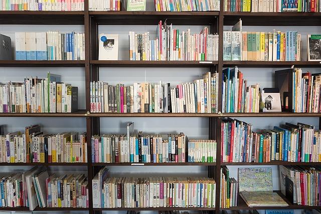 本がいっぱいの本棚