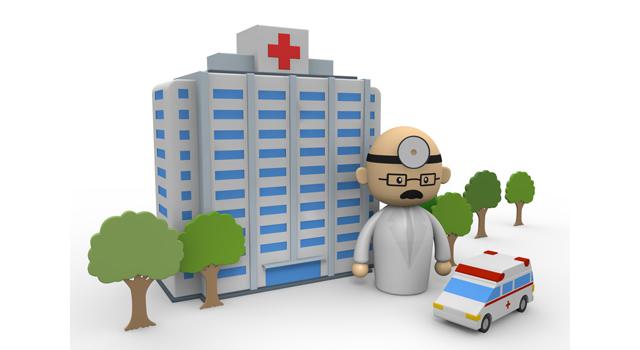 病院と医者と救急車