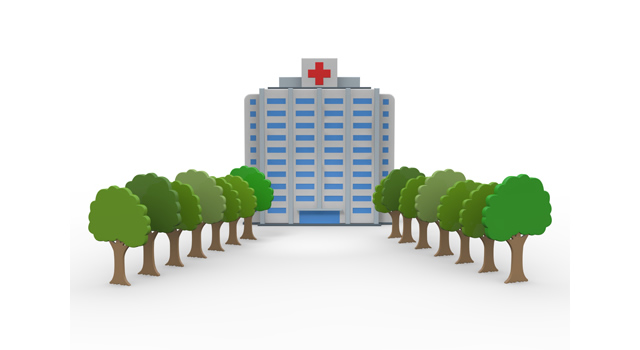 大きな病院のイラスト