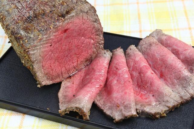 美味しそうな三田和牛のローストビーフ