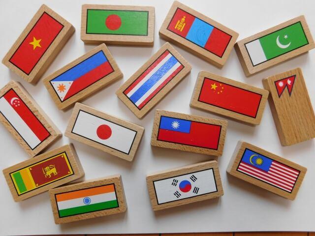 アジアの国の国旗