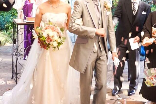 結婚式のライスシャワー