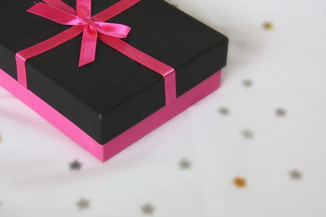 プレゼントが入ったギフトボックス