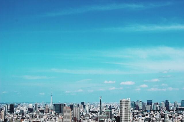 展望台から見た東京のビル群
