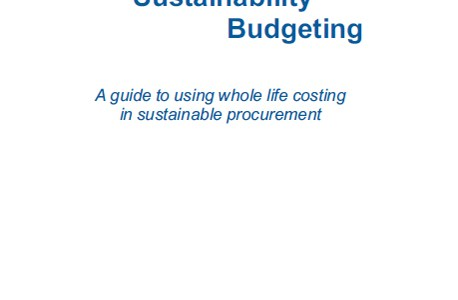 Sustainable Budgeting – Whole Life Costing
