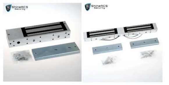Tek kapı ve çift kapı için maglock - Geçiş kontrol sistemi tasarımı ve montajında kapılar için maglock kurulumu