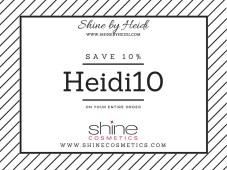 Shine Cosmetics Save 10%