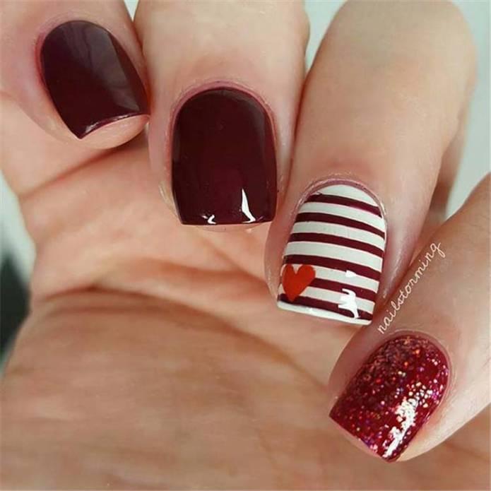 35 Short Valentine S Day Nail Designs You Should Copy Now Women Fashion Lifestyle Blog Shinecoco Com