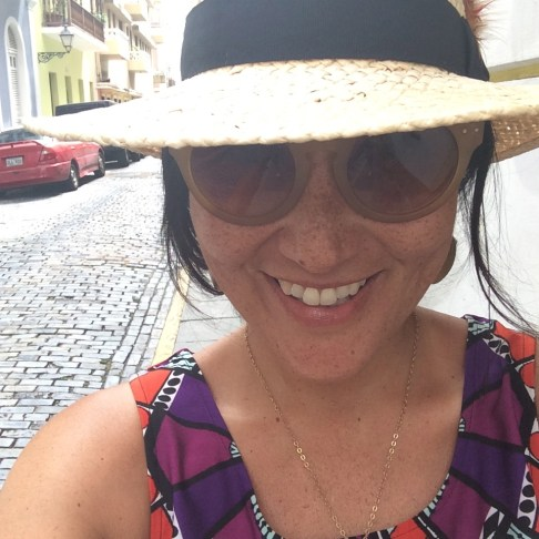 A hat is a must for afternoon walking.