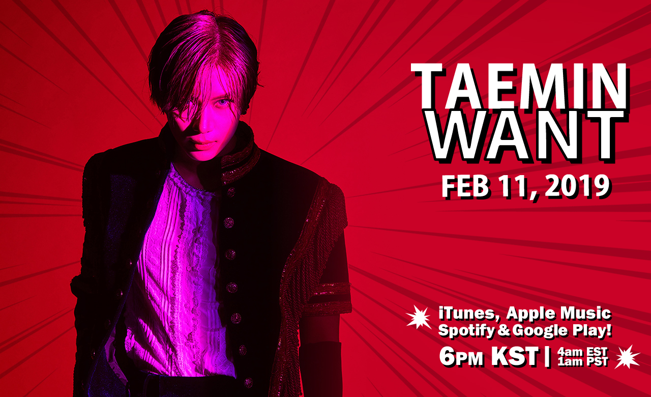 "TAEMIN: ""WANT"" 2nd Korean EP 2/11 Release~!"