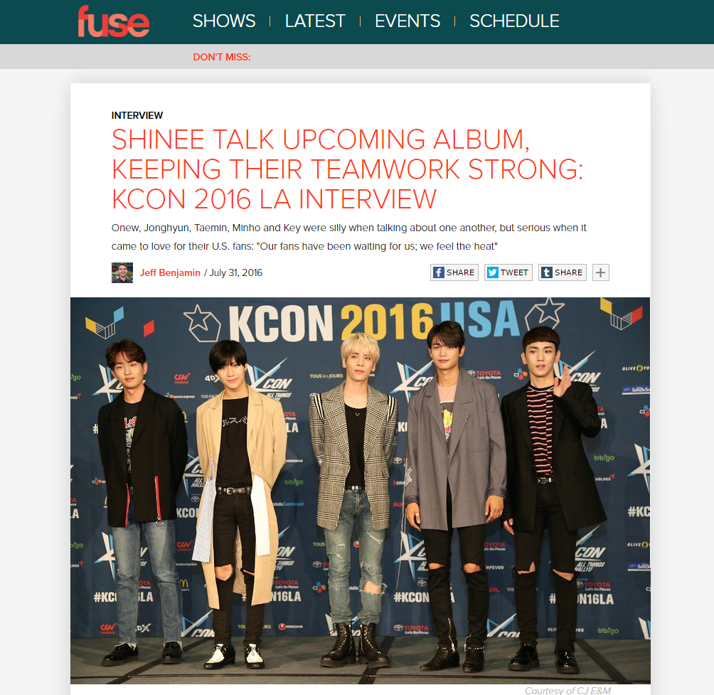 [Interview] Fuse – KCON LA 2016