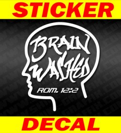 brain washed christian Decal