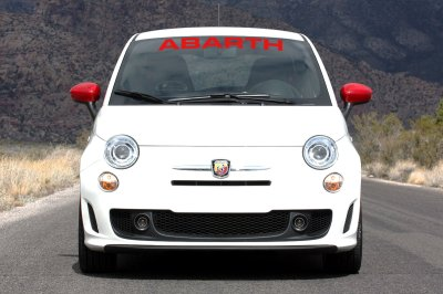 Fiat Abarth 500 windshield decal white or red