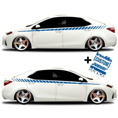 car vinyl graphics 20 blue