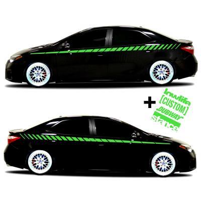 car vinyl graphics 20 Lime green