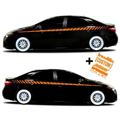 car vinyl graphics 20 orange