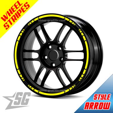 Wheel Rim Stripe arrow style for car or truck like a decal