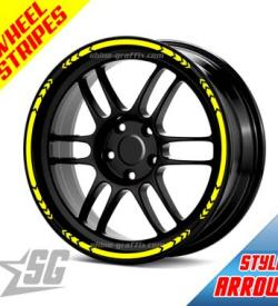 Wheel Rim Stripe arrow style for car or truck like a decal