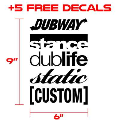 decals kit for graphics 333 black