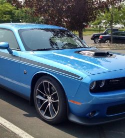 Dodge Challenger R/T replica stripes graphics #403