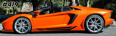 Lamborghini aventador side graphics 419 LP 700, 720, 750, Coupe, Roadster, SV