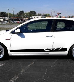 GTI vinyl side graphics rocker panel stripe mk6 mk7 mk5