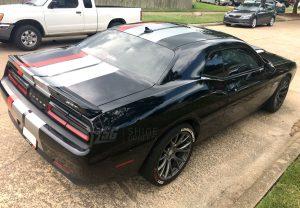 Dodge Challenger Triple Racing Stripes SRT Side rear