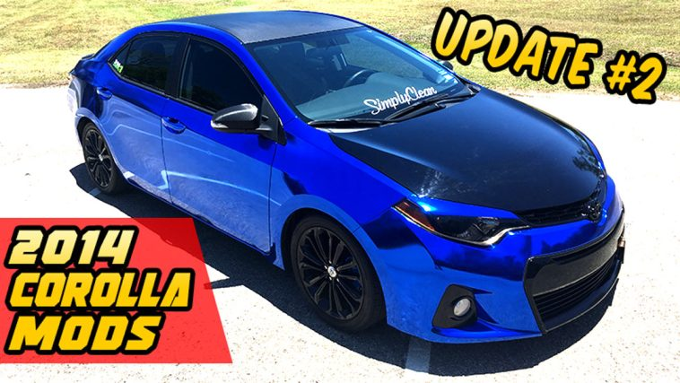 2014 Corolla S Mods project update #2 LED, Decals, Full Wrap, Modification