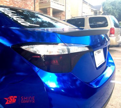2016 Corolla Tail light tint precut black