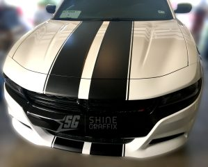 2018 dodge charger rally racing stripes Front