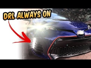 How to make drl LED always on corolla 2017 2018 SE XSE