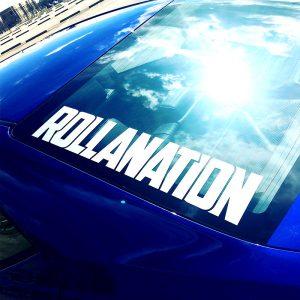 Rollanation vinyl decal JDM Corolla club rear