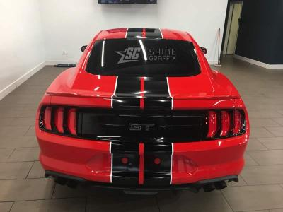 Universal racing stripes mustang shelby rear