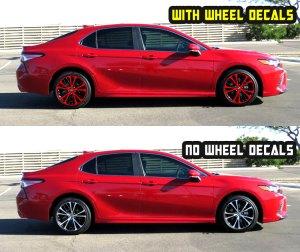 2019 camry se red wheel decals