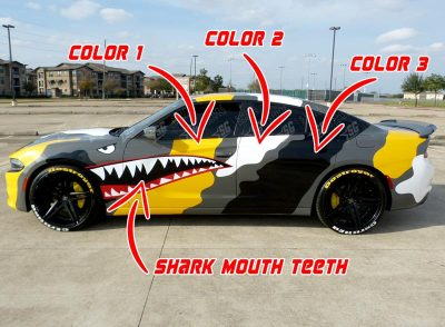 dodge charger camouflege wrap options