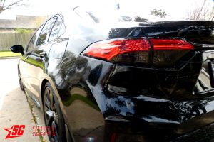 2020 Corolla Sedan Taillight Tint OVERLAYS clear area side