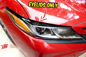 2020 Toyota Camry black eyelids only Headlights
