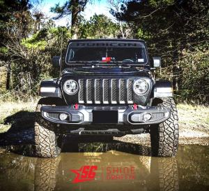 Jeep Rubicon WINDSHIELD Banner Matte Black Front