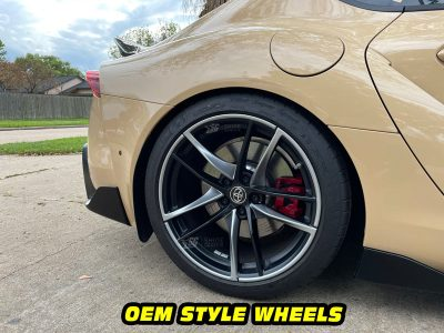 Mk5 Supra a90 OEM silver wheels decals mods