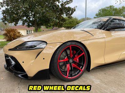 Mk5-Supra a90 front red wheel decals mods