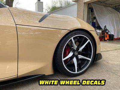 Mk5 Supra a90 front white wheel decals mods