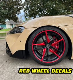 Mk5 Supra a90 red wheel decals mods