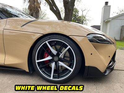 Mk5 Supra a90 side white wheel decals mods