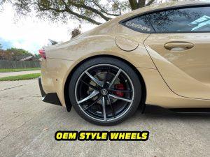 Mk5 Supra a90 silver wheel decals mods