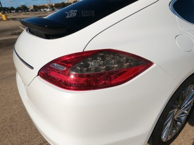 Porsche Panamera Tail Light Tint Inserts mods Passenger side 970
