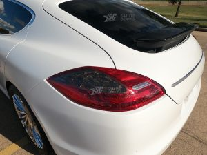 Porsche Panamera Tail Light Tint Inserts mods Driver Side G1 Smoked