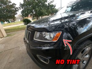 Jeep Grand Cherokee amber delete Headlights No Tint inserts