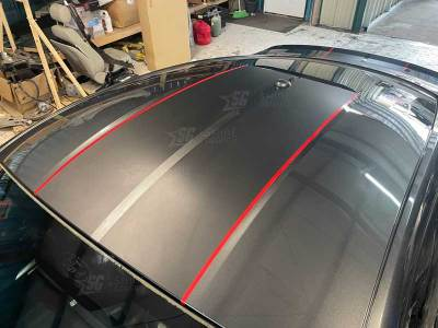 """Mustang Shelby style racing stripes 10"""" wide Roof"""